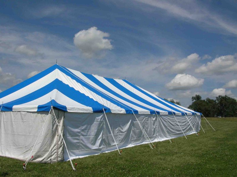 Blue and White Pole Tent for Wedding and Events in Kansas City & Festival u0026 Event Tent Rentals u0026 Tents For Sale in Kansas City MO ...